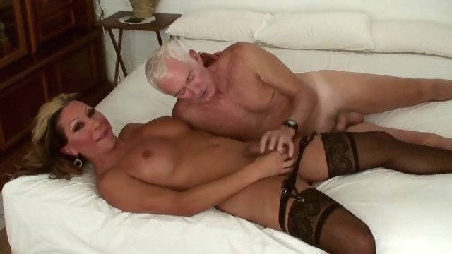 Sleazy Sex big tits blonde stockings
