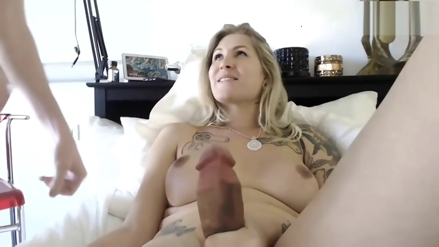 hot blonde milf.. amateur big cock big tits